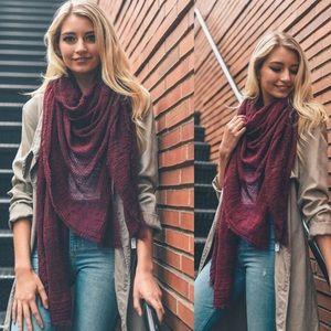Burgundy OpenKnit Blanket scarf
